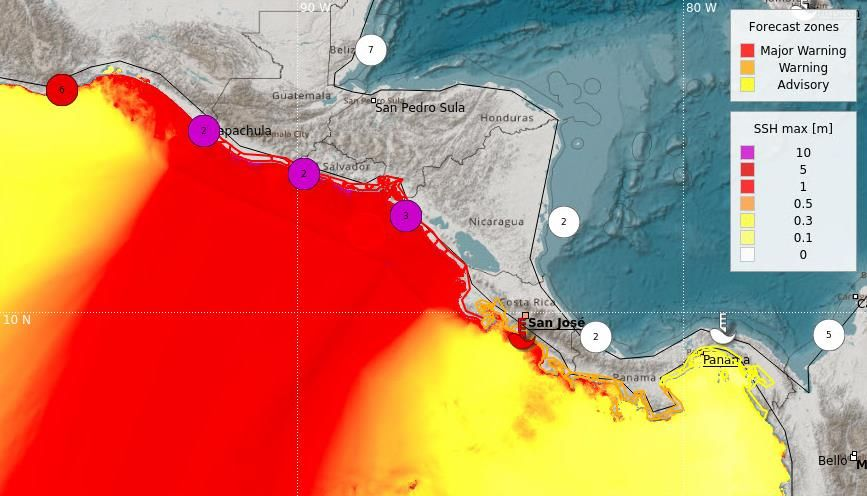 Centro De Asesoramiento Para Alerta De Tsunami En America Central